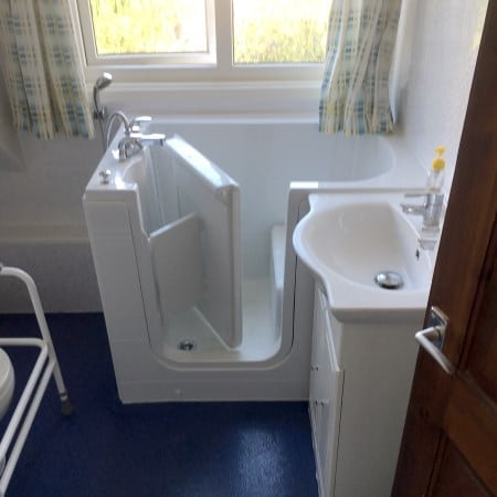 Disabled Easy Access baths Installed in Small Bathrooms in Coventry