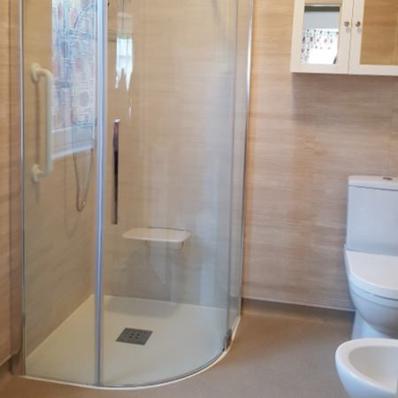 Portfolio Example - Wetroom Installed in Tamworth Mobility Home