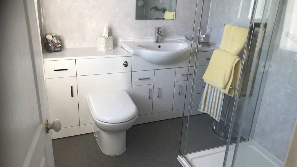 Bathroom Converted to Wet room with walk in Shower in Tamworth - showers for easy access disabled people