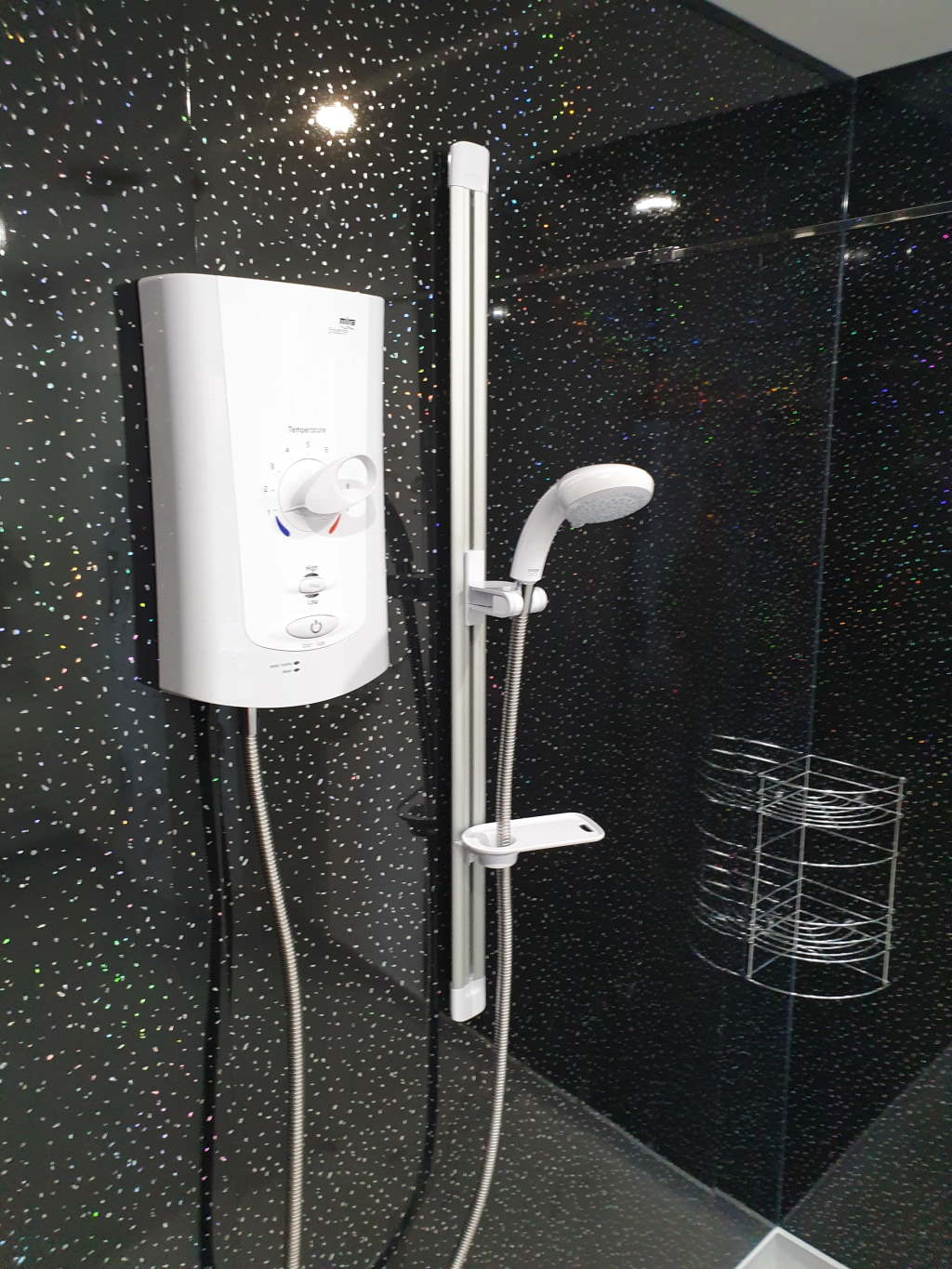 Electric power shower installer for Walk in Showers Mrs Alvery Nottingham