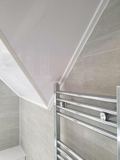 New Bathroom Mrs Wootton in Birmingham Chrome radiator
