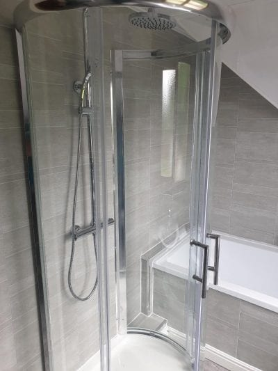 New Bathroom Mrs Wootton in Birmingham Circular Shower