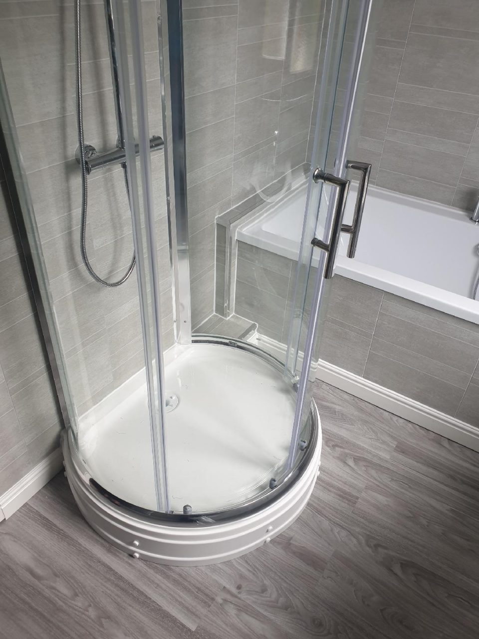 New Bathroom Mrs Wootton in Birmingham Round Shower Cubicle