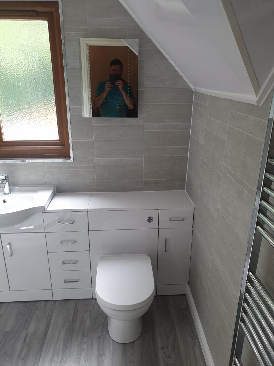 New Bathroom Mrs Wootton in Birmingham Toilet built in