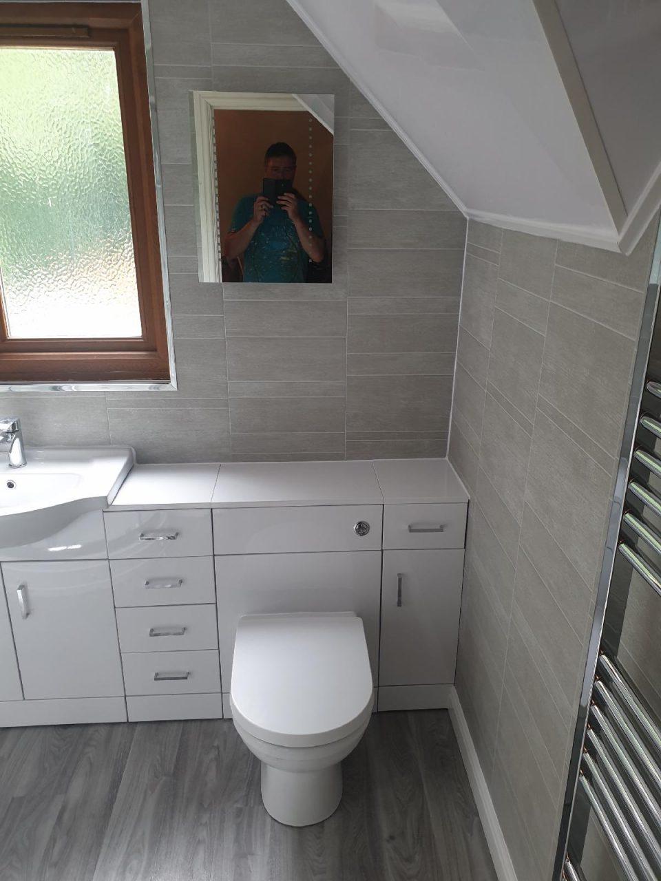 New Bathroom Mrs Wootton in Birmingham Toilet built in