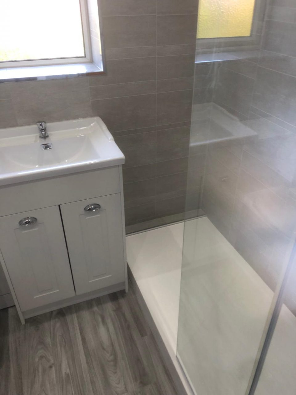 Replace Bath with Mobility Walk in Shower Plumber installer in Birmingham B36 for Yvonne