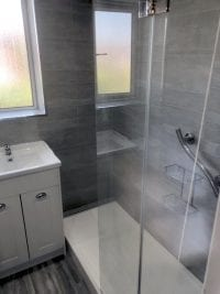 Replace Bath with Walk in Shower Plumber installer in Birmingham B36 for Yvonne