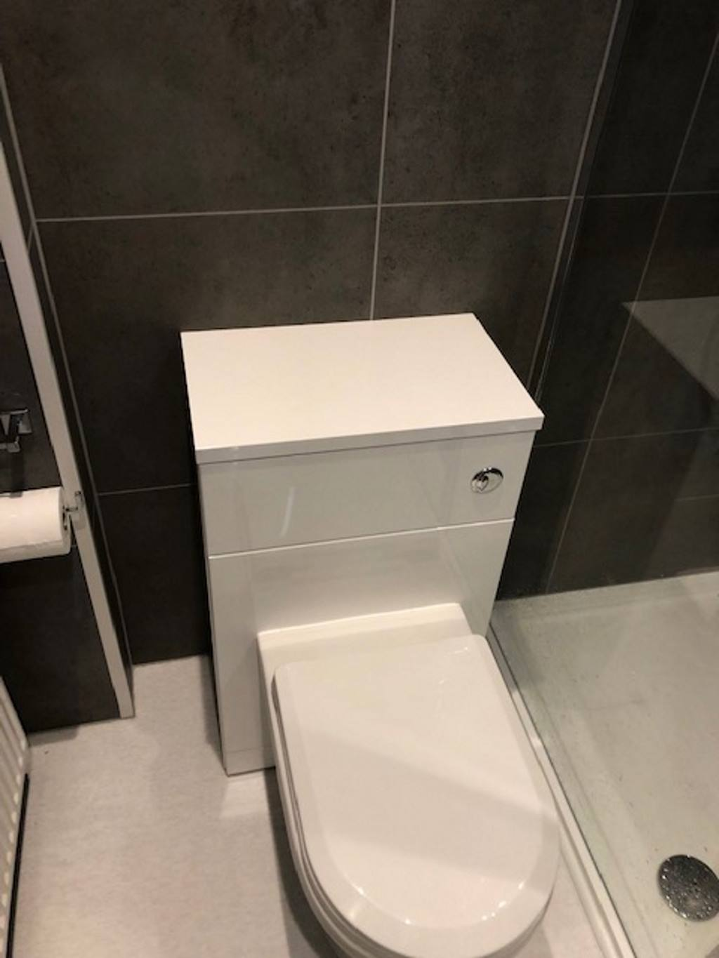 Testimonials -Bathroom Redesign in Birmingham - Toilet with Cabinet - Mr Keogh