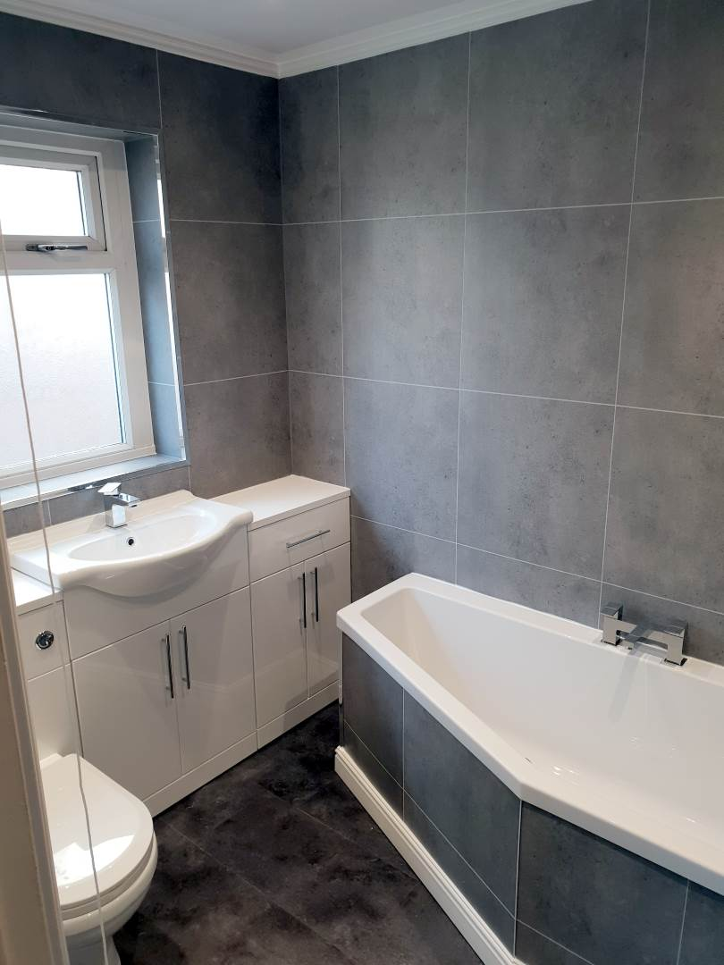 Walk in Shower and bath Complete bathroom renovation - Easy Access Corner Bath and sink