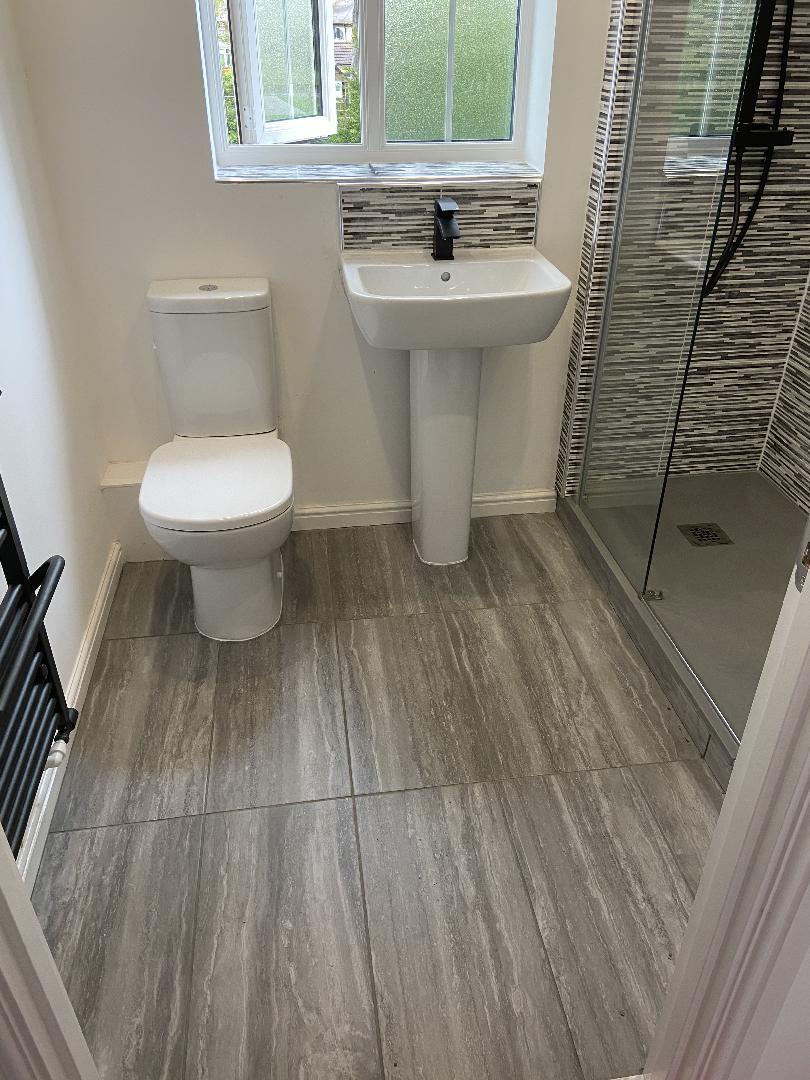 Walk in shower bathroom conversion bespoke 2