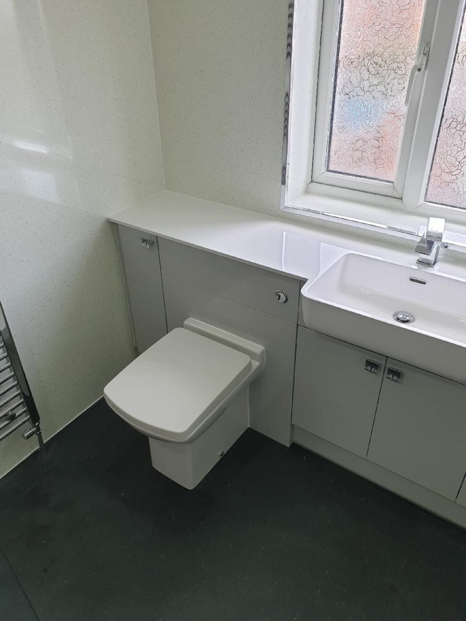 portfolio Example - Luxury Bathrooms Birmingham Wet Room - Flush Toilet-