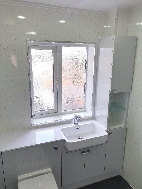 portfolio Example - Luxury Bathrooms Birmingham Wet Room - Flush Toilet - Sink in cabinet